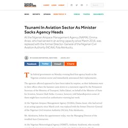 Tsunami In Aviation Sector As Minister Sacks Agency Heads