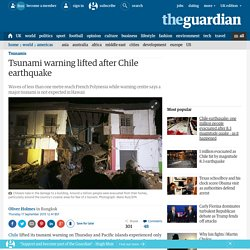 Western Pacific braces for possible tsunami after Chile earthquake