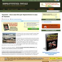 √ Tsunami – Ecco cosa fare per Sopravvivere in caso di Tsunami