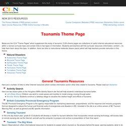Tsunamis Theme Page