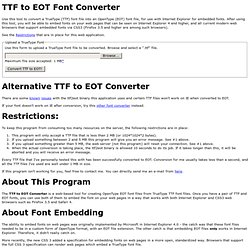 ttf2eot on the web!