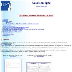 IUFM PARIS tuto word - cours en ligne