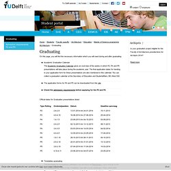 TU Delft - Graduating