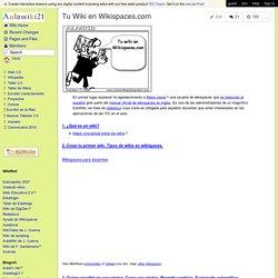 Tu Wiki en Wikispaces.com