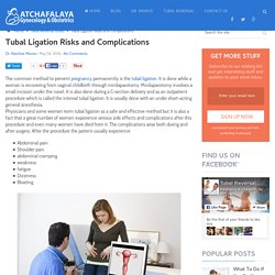 Tubal Ligation Risks and Complications
