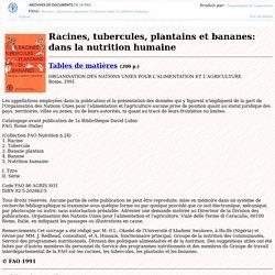 Racines tubercules plantains & bananes