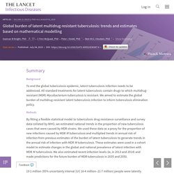 THE LANCET 01/08/19 Global burden of latent multidrug-resistant tuberculosis: trends and estimates based on mathematical modelling