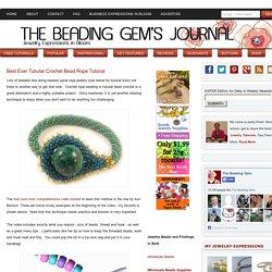 Best Ever Tubular Crochet Bead Rope Tutorial
