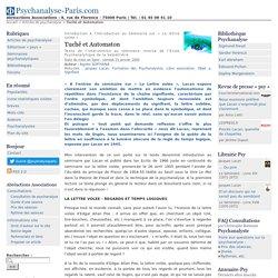 Tuchê et Automaton - Psychanalyse-Paris.com