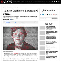 Tucker Carlson's downward spiral - Media Criticism