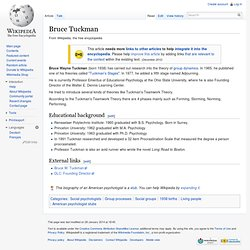 Bruce Tuckman