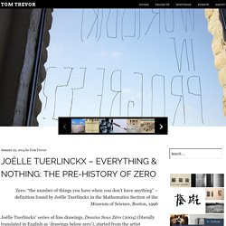 Joëlle Tuerlinckx – Everything & Nothing: the Pre-History of Zero