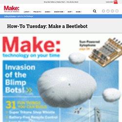 Beetle bot - Construction étape après étape - cliquez sur les petites lignes de la fenêtre du site Web