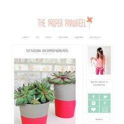 Tut Tuesday: Neon's where it's at. : The Proper Pinwheel