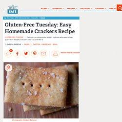 Gluten-Free Tuesday: Easy Homemade Crackers Recipe