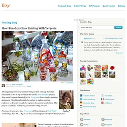 How-Tuesday: Glass Painting With Yevgenia :: Etsy Blog