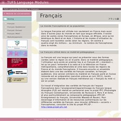 COELANG TUFS|Français