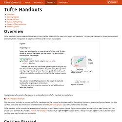 Tufte Handouts