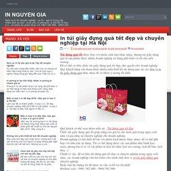 In túi giấy đựng quà tết đẹp và chuyên nghiệp tại Hà Nội ~ IN NGUYỄN GIA