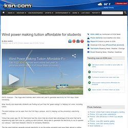 Wind power making tuition affordable for students