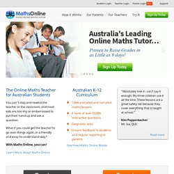 Maths Online - Free Maths Tuition For All Australian High School Students