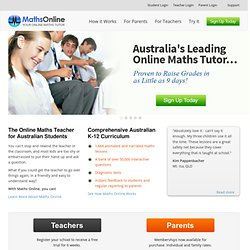 Mathematics.com.au - Maths Help Online | Maths Worksheets | Maths Software | Maths Tutor