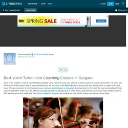 Best Violin Tuition and Coaching Classes in Gurgaon: rhythmnmelody