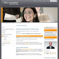 Tuition & Funding : Executive MBA - Essec & Mannheim EMBA