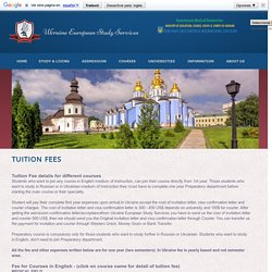 Tuition Fees Ukraine Universities