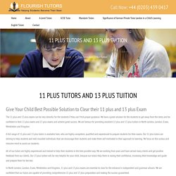 11 Plus Tutors, 13 Plus Tuition, North London, Essex, Wimbledon, Kingston