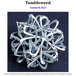 Tumbleweed -- sculpture by George W. Hart