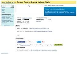 Tumblr Cursor: Purple Nebula-Style