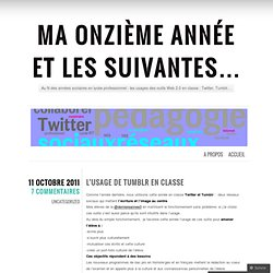 L'usage de Tumblr en classe