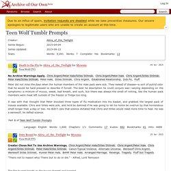 Teen Wolf Tumblr Prompts - Akira_of_the_Twilight
