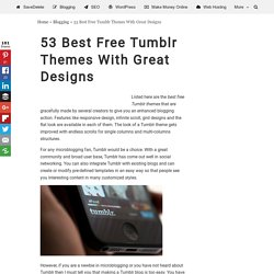 53 Best Free Tumblr Themes With Great Designs