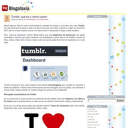 Tumblr, qué es y cómo usarlo