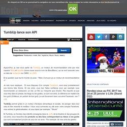 TumbUp lance son API