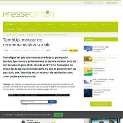 TumbUp, moteur de recommandation sociale