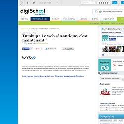 Tumbup : Le web sémantique, c'est maintenant !