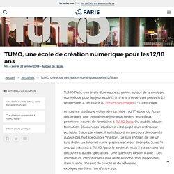 TUMO, une école de création numérique pour les 12/18 ans