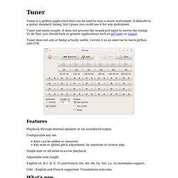 Tuner: a python guitar tuner