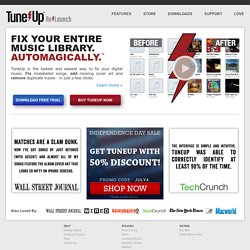 TuneUp | Digital Music Management and Music Discovery for iTunes