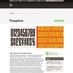 Tungsten Fonts