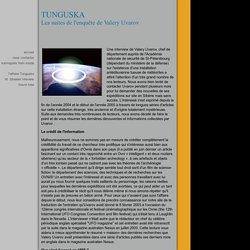 Tunguska, les suite de l'enquête Uvarov