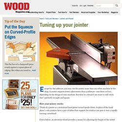 Tuning up your jointer