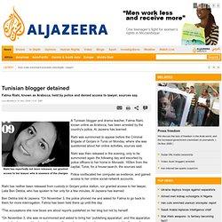 Al Jazeera English - Africa - Tunisian blogger detained