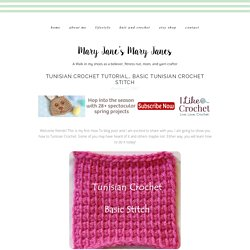 Tunisian Crochet How-To… Basic Tunisian Crochet Stitch