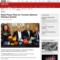 Nobel Peace Prize for Tunisian National Dialogue Quartet