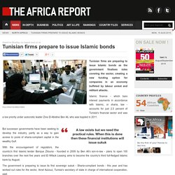Tunisian firms prepare to issue Islamic bonds