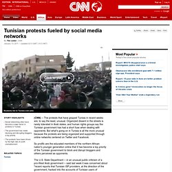 Tunisian protests fueled by social media networks